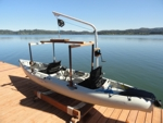 Kayak lift using the Schedule 80 Power Hauler Davit